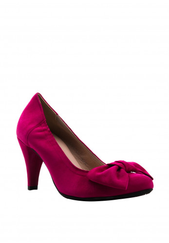 Le Babe Suede Bow Court Shoes, Pink