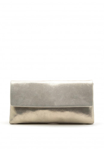 Le Babe Suede Shimmer Clutch Bag, Pearl