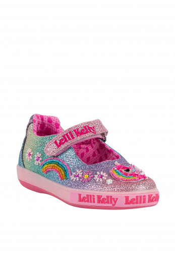 Lelli Kelly Girls Glitter Unicorn Shoes, Multi