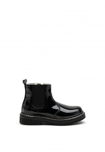 Lelli Kelly Leather Patent Chelsea Boots, Black