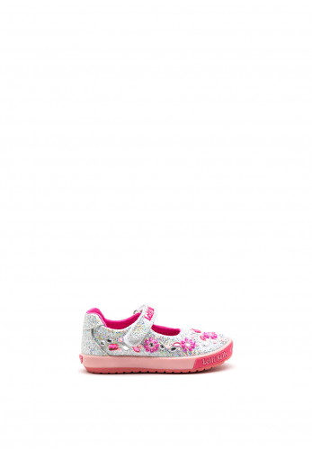 Lelli Kelly Girls Florence Sparkly Shoes, Silver Pink