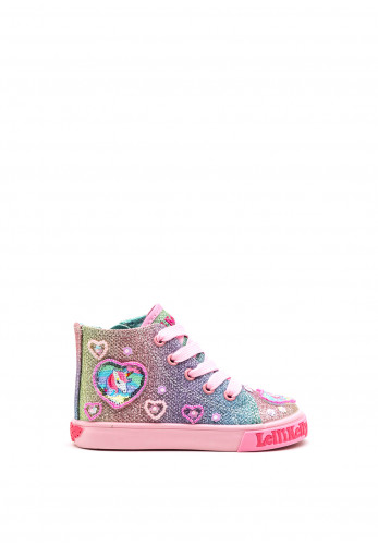 Lelli Kelly Girls Rainbow Gem High Top Trainers, Pink Multi