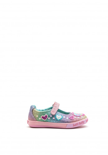 Lelli Kelly Girls Glitter Unicorn Shoes, Pink Multi