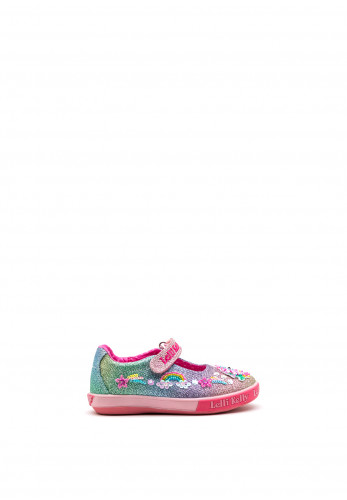 Lelli Kelly Girls Rainbow Treasure Shoes, Pink Multi