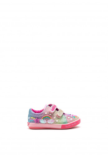 Lelli Kelly Girls Rainbow Sequined Trainers, Pink Multi