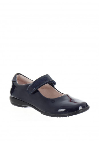 Lelli Kelly Patent Velcro School Shoes, Navy