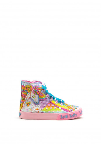 Lelli Kelly Girls Unicorn High Top Trainers, Pink Multi