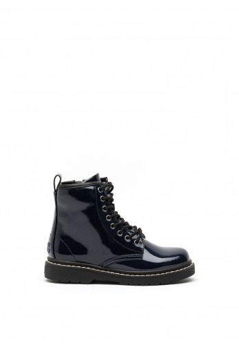 Lelli Kelly Leather Patent Boots, Navy