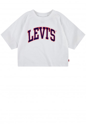 Levis Logo Cropped Style T-Shirt, White