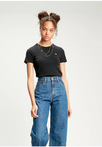 Levis® Womens Ribbed Baby Tee, Black 0001