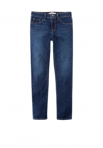 Levis Girls 710 Super Skinny Denim Jeans, Blue
