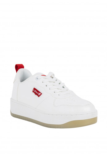 Levis Kids Queen Lace Up Trainers, White
