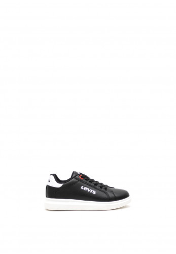 Levis Mini Kids Ellis Lace Trainers, Black