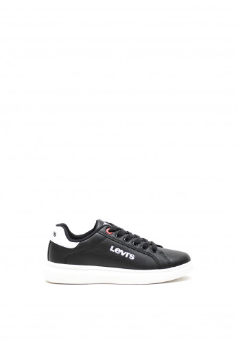 Levis Kids Ellis Lace Up Trainers, Black