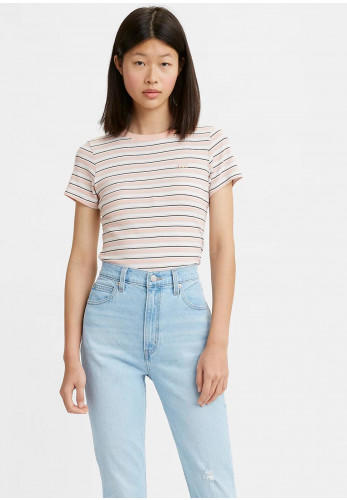 Levis® Womens Ribbed Baby Tee, Evening Sand