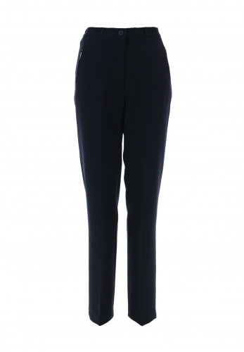 Libra Zip Pocket Tapered Trousers, Navy