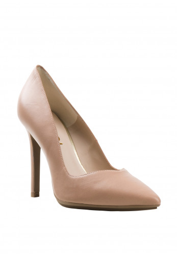Lodi Victory Shimmer High Heel Court Shoes, Nude