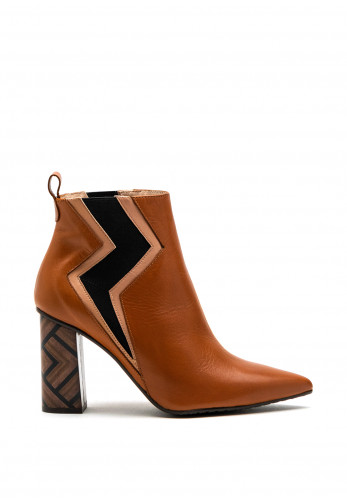 Lodi Sanchis Leather Ankle Boot, Toffee