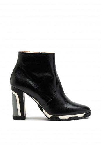 Lodi Umi Ankle Leather Ankle Boot, Black