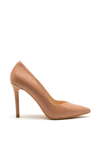 Lodi Victory Leather Pointed Court Shoe, Deep Nude