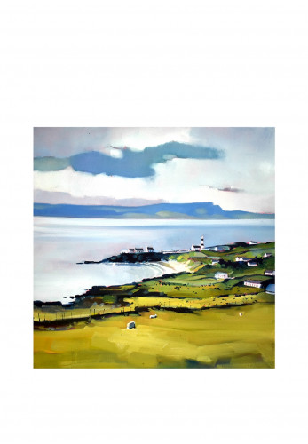 Sharon McDaid Looking Out to the Foyle Framed Art