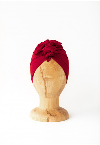 Looks by Luks Organic Cotton Turban, Red