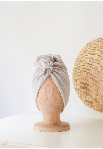 Looks by Luks Velvet Turban, Beige