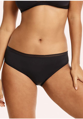 Love Luna Lady Leaks Midi Briefs, Black