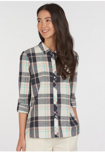 Barbour Womens Seaglow Checked Shirt, Navy Multi
