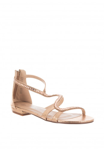 Lunar Belle Diamante Strappy Sandals, Rose Gold