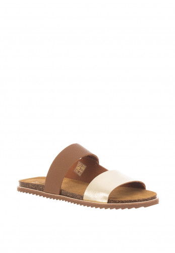 Lunar Prague Faux Leather Sandals, Tan