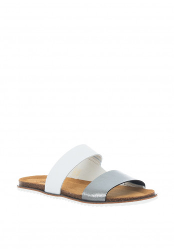Lunar Prague Faux Leather Sandals, White