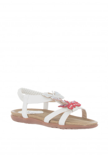 Lunar Girls Butterfly Sandals, White