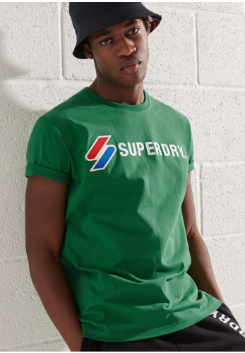 Superdry Sportstyle Applique T-Shirt, Oregon Green