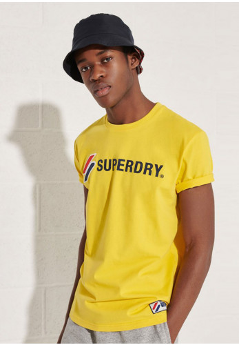 Superdry Sportstyle Applique T-Shirt, Nautical Yellow