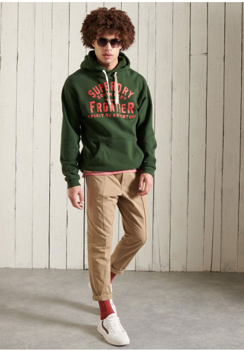 Superdry Heritage Mountain Graphic Hoodie, Green