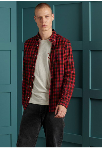 Superdry Classic London Shirt, Red Check