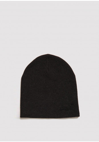 Superdry Orange Label Beanie, Charcoal Grit