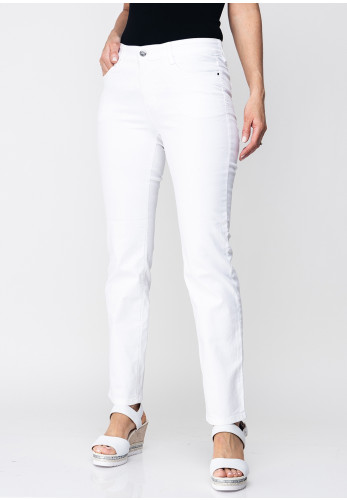 Mac Jeans Dream Straight Leg Jeans, White