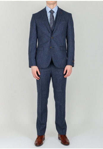 Magee 1866 Tweed Style 3-Piece Suit, Blue
