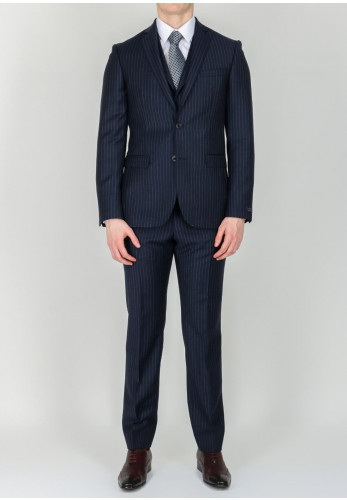 Magee 1866 Navy Pin Stripe 3-Piece Suit