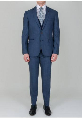 Magee 1866 Twill Navy Blue 3-Piece Suit