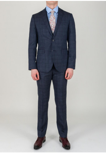 Magee 1866 Mini Check 3 Piece Suit, Navy