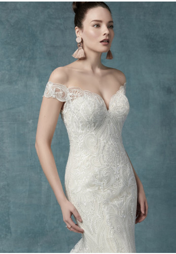 Maggie Sottero Sabra Wedding Dress, Ivory