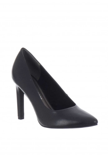 Marco Tozzi Faux Leather Heeled Court Shoes, Black