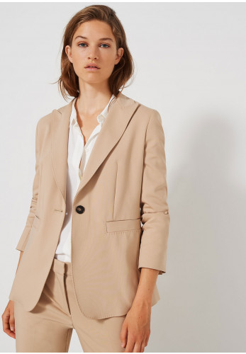 Marella Cotton Blend Blazer Jacket, Beige