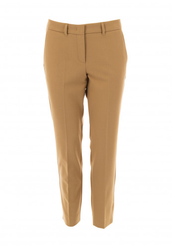 Marella Violet Cropped Slim Fit trousers, Camel