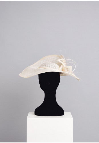 Gigi Headwear Large Occasion Hat Fascinator, Ivory