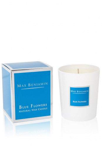 Max Benjamin Blue Flowers Natural Wax Candle 190g