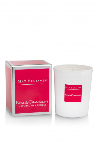 Max Benjamin Rose & Champagne Scented Candle